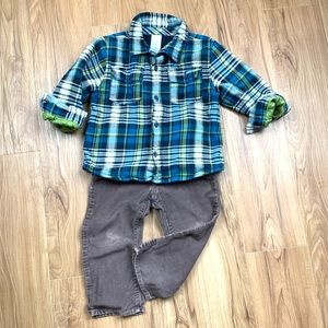 Boys Flannel Shirt Outfit - Toddler